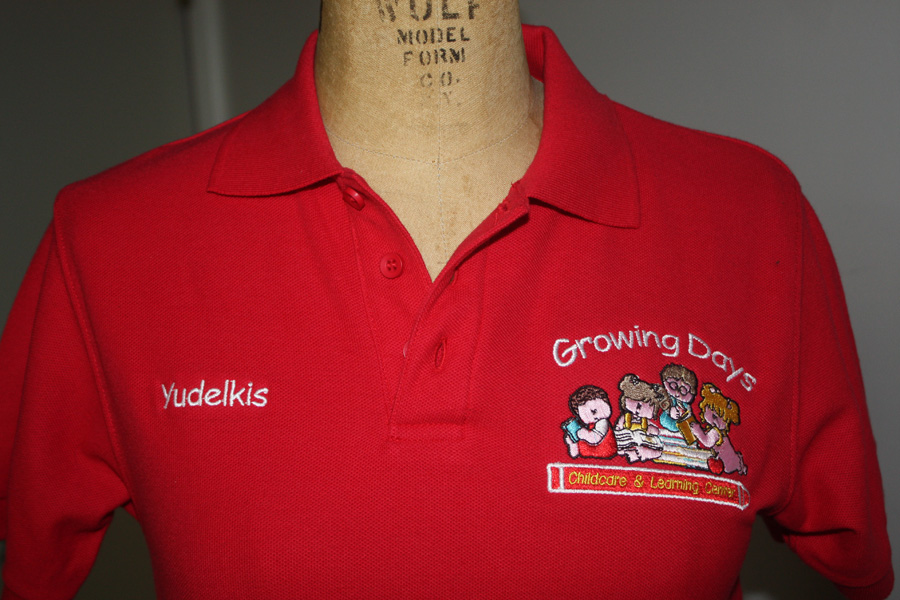 Custom work polo shirts arts arts for Polo shirts with embroidery